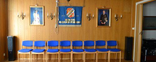 Festsalen i selskapslokalene i Bergens Maskinistforening