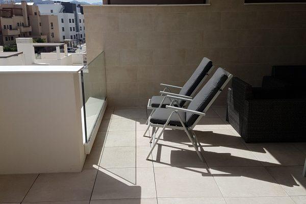 Terrassen med sol
